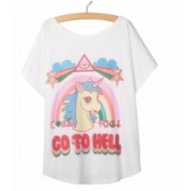 Unicorn Eenhoorn Gothic T-shirt Shirt Topje Tops Lolita