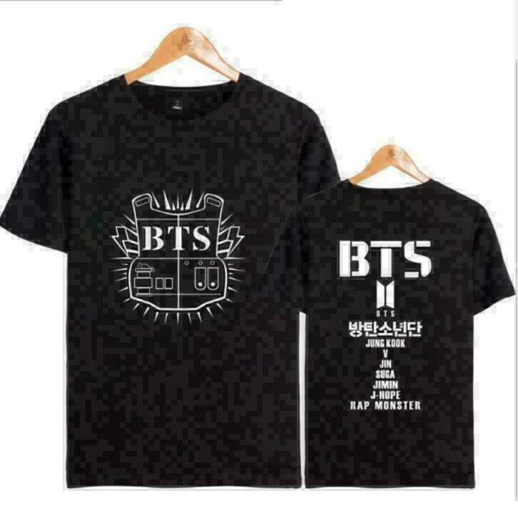 Kpop Zwarte BTS T-shirt Shirt Topje Kleding Muziek T shirt