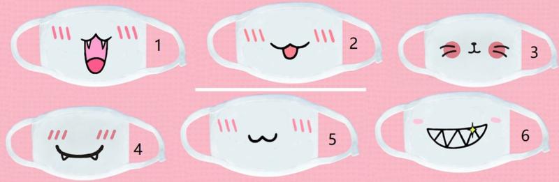 leuke Herbruikbare wasbare katoenen print opdruk witte mondkap mondkapje mondmasker masker mondkapjes mondmaskers mondkapjes mondkaps