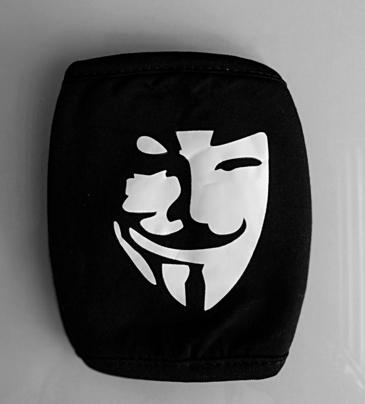 Herbruikbare wasbare zwarte katoenen v for vendetta mondkap mondkapje mondmasker masker mondmaskers mondkapjes mondkaps mouth mask masks