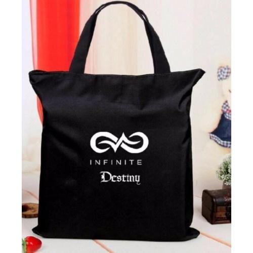 Infinite Handtas Tas Shopper Schooltas Kpop Korea Koreaanse