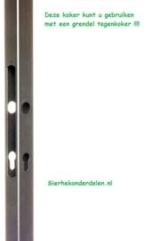 Koker 25002-MAU  voor een grendel tegenkoker 40x40x2 vierkant 1,93 mtr Lang