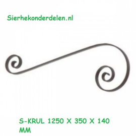 S-KRUL 1250 X 350 X 140 MM strip 40 x 8 mm