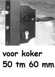 SIERPOORTSLOT  ZWART 9005 voor 50 tm 60 mm koker- V PROFIEL