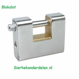 BLOKSLOT, BLSL01-G GEPANTSERD, MESSING BINNENWERK Ø10