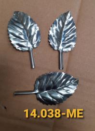Blaadje  70x35  mm 0,5 mm dik