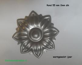 Sierbloem Ø55mm 2 mm dik warm gesmeed ijzer