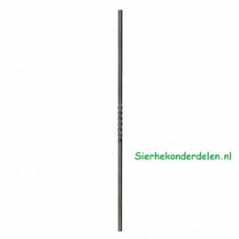 Sierspijl 12 mm / L=1000 mm met 1 tordering