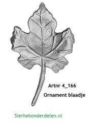 Ornament blaadje  4_166J
