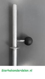 poortgrendel voor inbouw in koker
