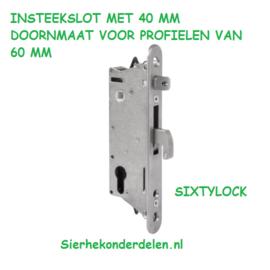 INSTEEKSLOT MET 40 MM DOORNMAAT VOOR PROFIELEN VAN 60 MM