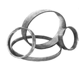 RING ROND 100 mm van strip 12 x 6 mm