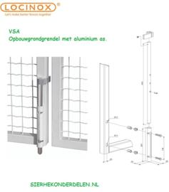 Poortpen aluminium vsa