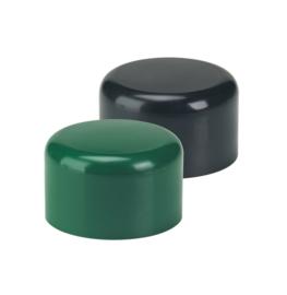 Paaldop voor ronde profielen rond 48 mm kleur groen