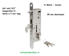 INSTEEKSLOT MET 35 MM DOORNMAAT  v HLT insteekprofiel