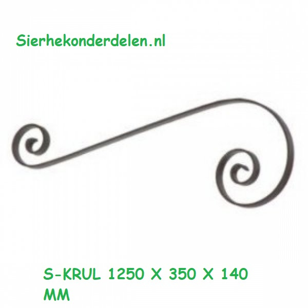 S-KRUL 1250 X 350 X 140 MM strip 40 x 8 mm