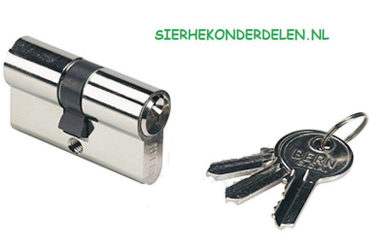 Cilinder met 3 sleutels voor H METAL WB Slot 35 MM