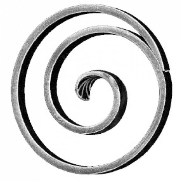 RING MET KRUL Ø 130 MM  van strip 14X6 MM