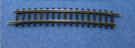 2407  gebogen rail R4 15° zwart