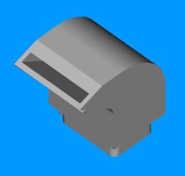 Blaasmond ventilator Radiaal 15mm breed