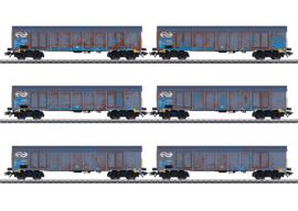 """47189 Set hogeboordwagens """"houtspaandervervoer"""""""