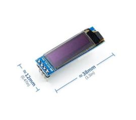 0.91 Inch 128x32 IIC I2C White / Blue OLED LCD Display