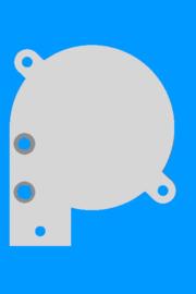 Montageplaat Ventilator radiaal 50x50