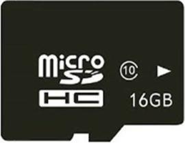16 GB Micro SHDC kaart + adapter class10