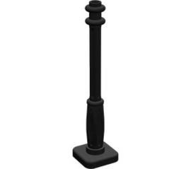 2 x 2 x 7 Lamp Post, 4 Base Flutes Black