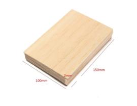 Balsa hout 150x100x2 mm