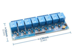 5v 8 channel relay module with optocoupler. Relay Output 8 way relay module