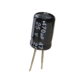 470u 25V radiaal 5mm pootjes