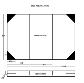 Basis module 80x120