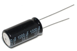 1000u 25V radiaal