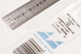 MAT04 Pijp rond  buiten 0,4mm dikte 0,1mm binnen 0,2mm  lengte 30,5mm  3 stuks