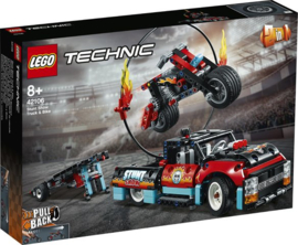 42106 Truck en Motor voor Stuntshow