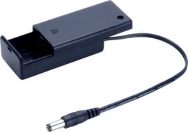 Batterijhouder 9V met jackplug en schakelaar