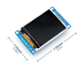 1.8 inch Full Color 128x160 SPI Full Color TFT LCD Display