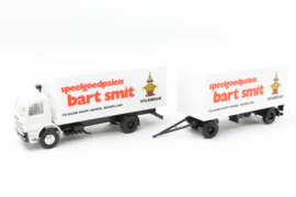 Herpa H0 NL Scania bakwagen met aanhanger Bart Smit