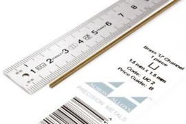 UC2 U-Profiel Hoogte 1,5mm breedte 1,5mm   1 stuks