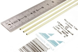 MBT18 Pijp rond buiten 1,8mm dikte 0,1mm binnen 1,6mm lengte 30,5mm 3 stuks