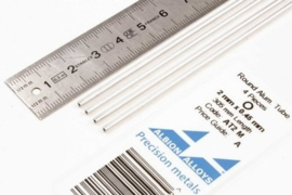 AT2M Pijp rond  buiten 2mm dikte 0,45mm binnen 1,1mm  lengte 30,5mm  4 stuks