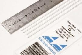 AT1M Pijp rond  buiten 1mm dikte 0,25mm binnen 0,5mm  lengte 30,5mm  4 stuks