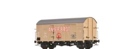 """47988 Spoor H0 Gesloten goederenwagen Gms 30 """"Anker Brot"""" uit de ÖBB, tijdperk III"""