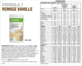 Formule 1 voedingsshake 550 gram romige vanille (4466)