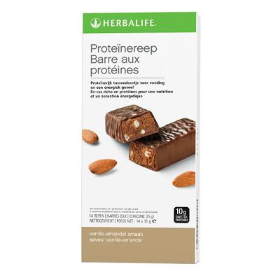Proteïnereep 14 repen vanille-amandel smaak