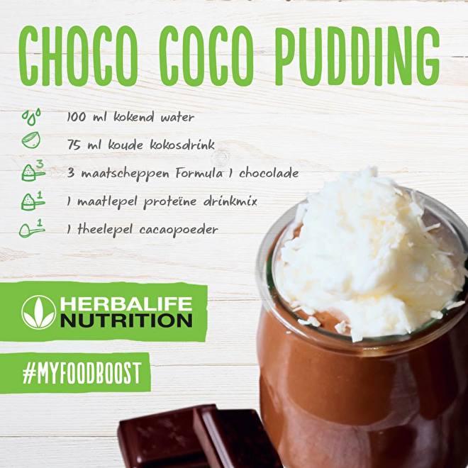 Choco Coco pudding