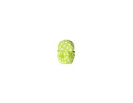 House of Marie Mini bakpapiertjes Stip Lime Groen - pk/60