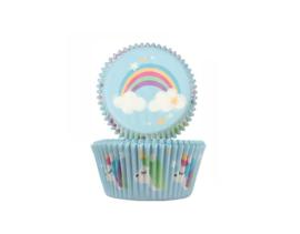 Cupcake Cups Unicorn 50mm 24stuks