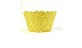 Cupcake wrapper bella green mini